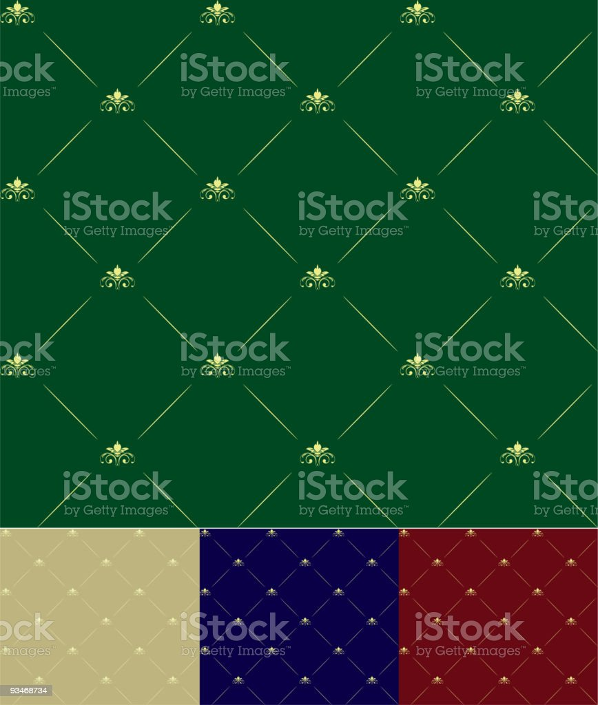 seamless floral royal royalty-free stock vector art