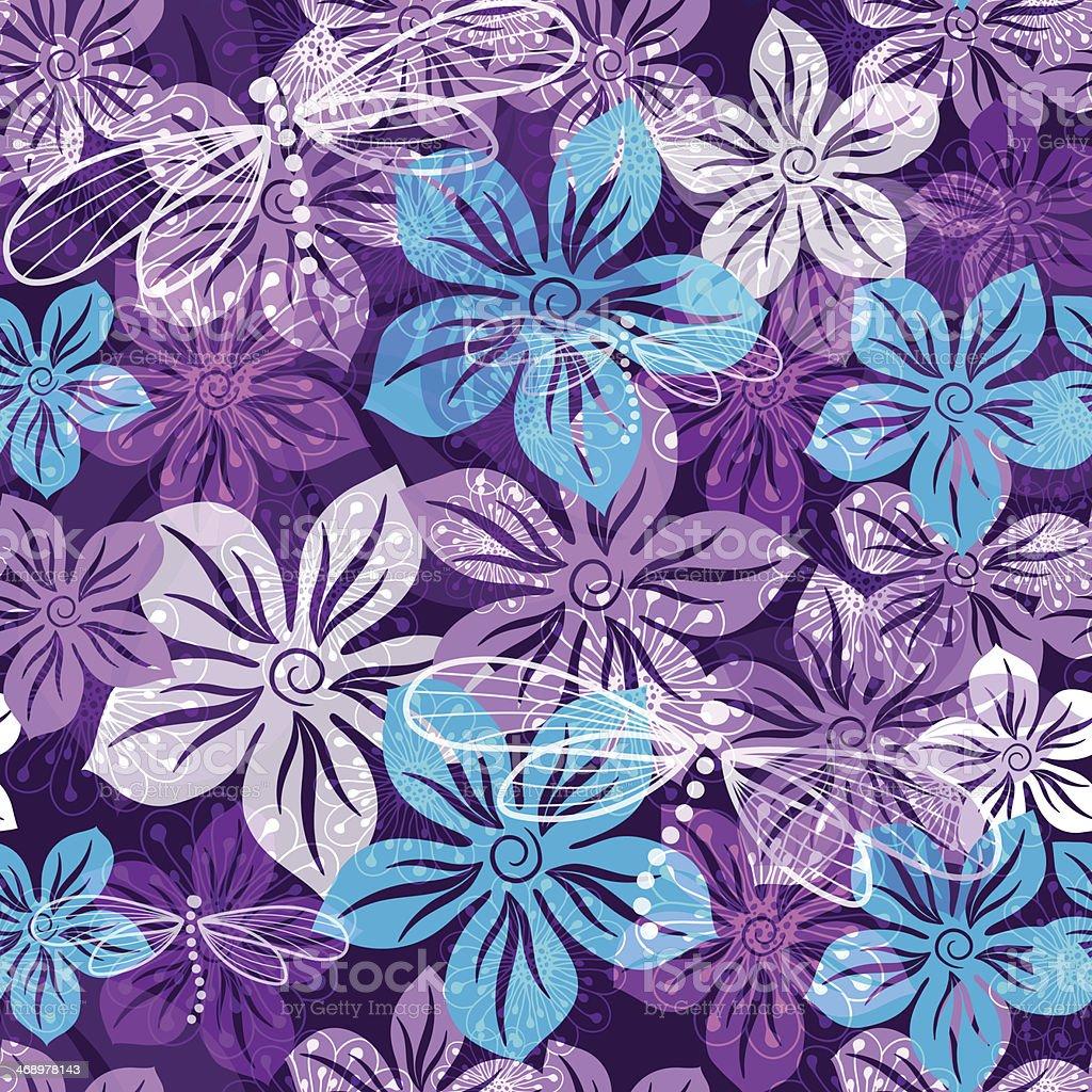 Seamless floral spring vivid pattern royalty-free stock vector art