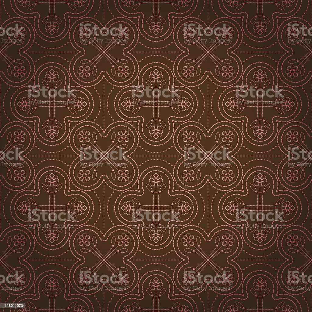 Seamless Floral Stitch royalty-free stock vector art
