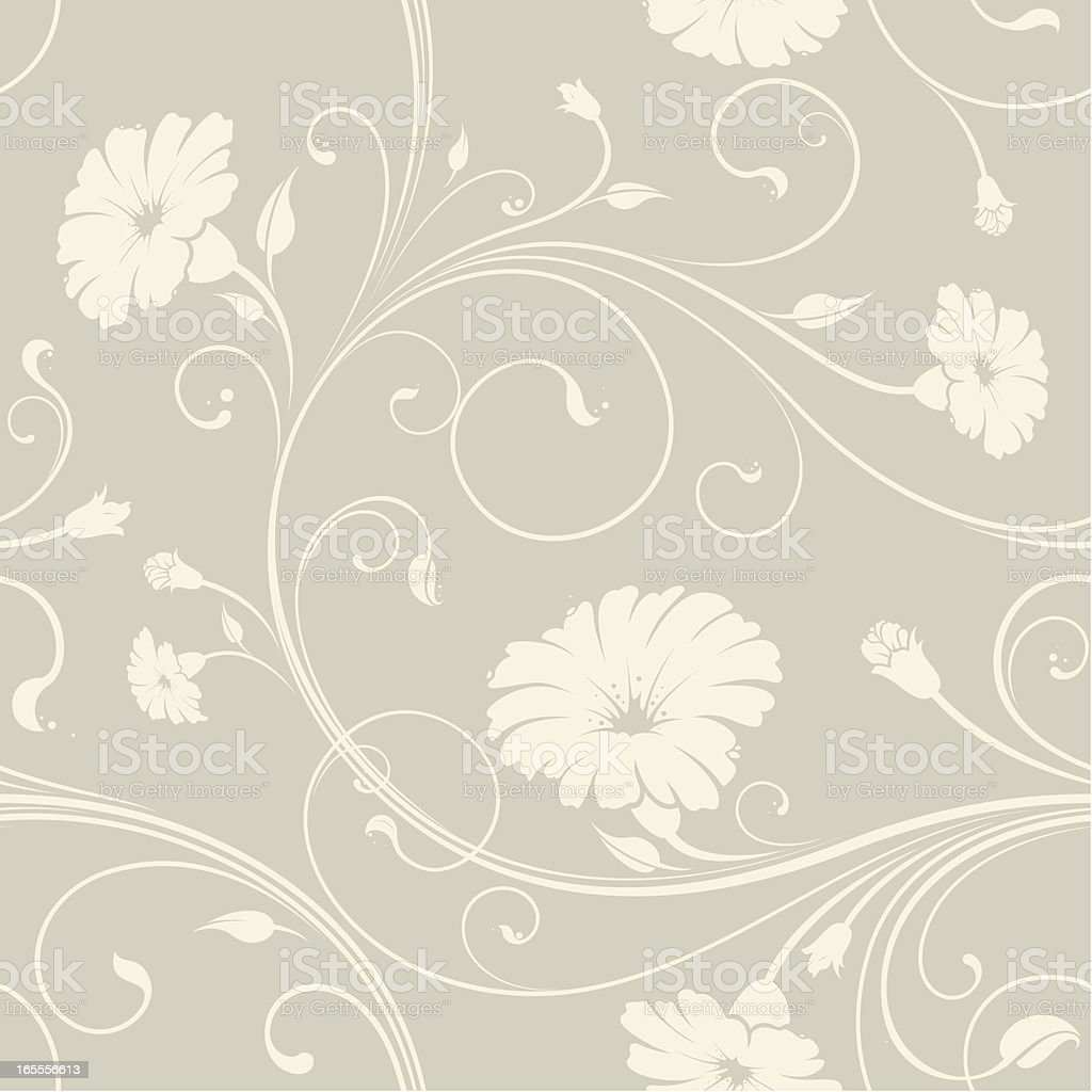 Seamless floral wallpaper background royalty-free stock vector art