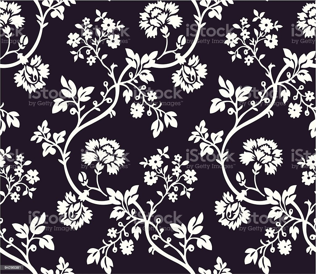 Seamless floral wallpaper royalty-free stock vector art