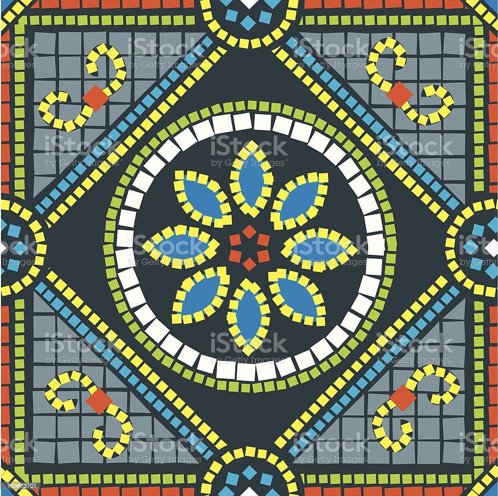 Seamless Flower Mosaic royalty-free stock vector art