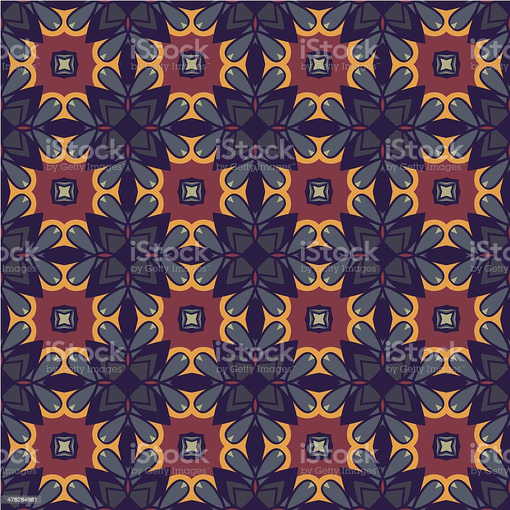 Seamless flower pattern background vector art illustration