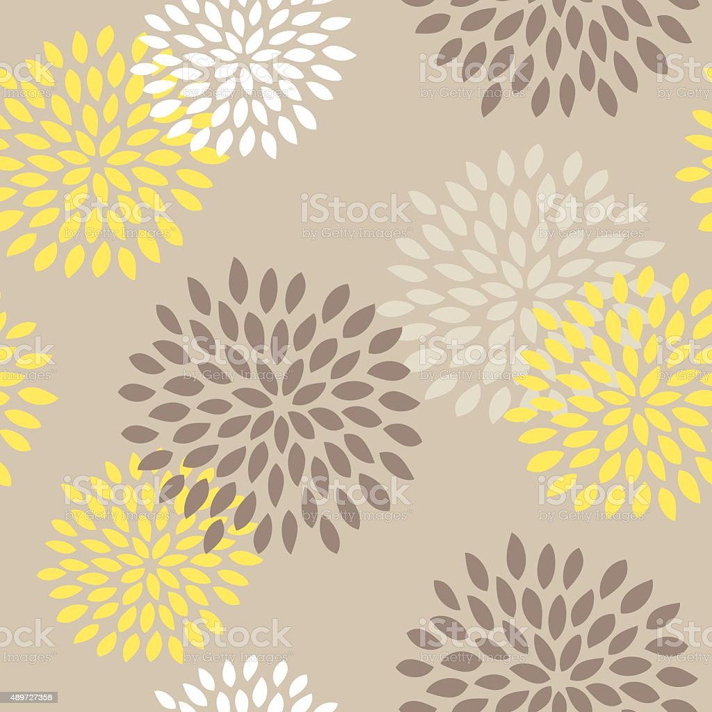 Seamless Flower Pattern, Chic, Vintage, Cute, Floral vector art illustration