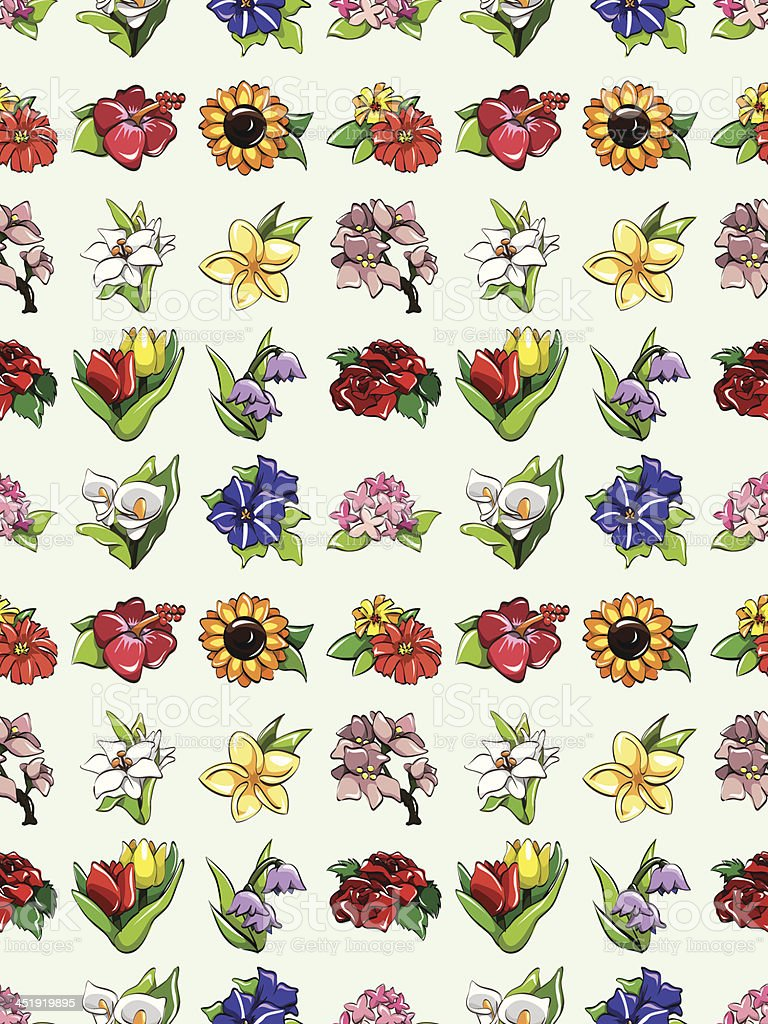 seamless flower pattern royalty-free stock vector art