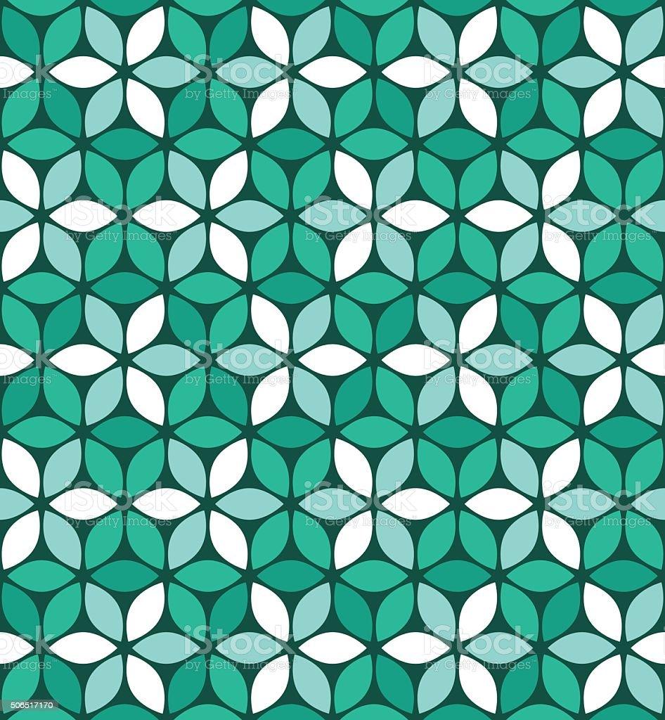 Seamless flower pattern vector art illustration