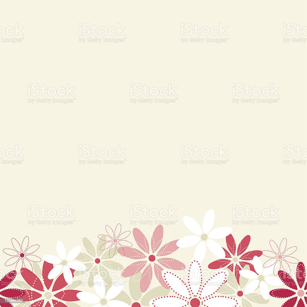 Seamless flowers meadow background. royalty-free stock vector art