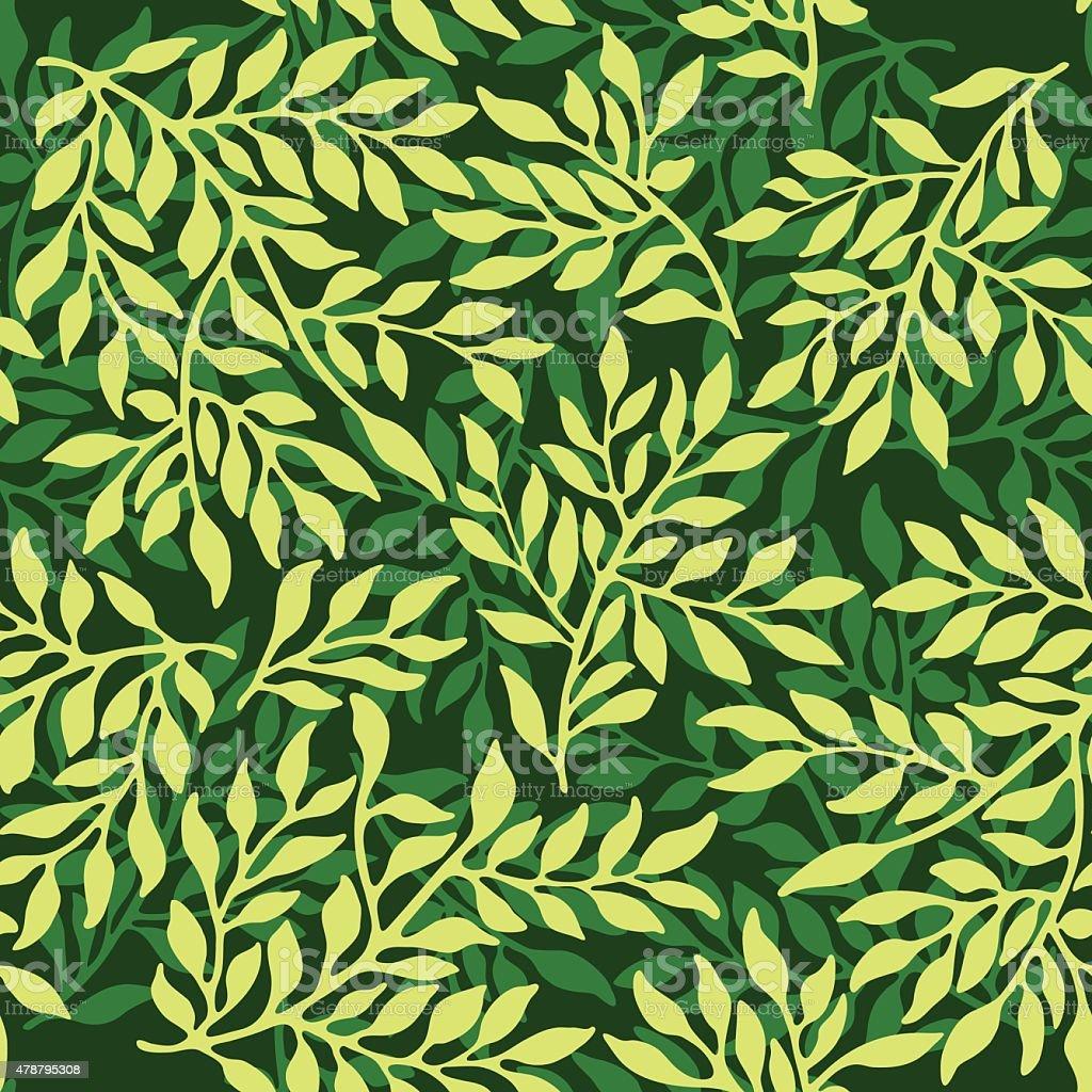 Seamless foliate ornament. vector art illustration