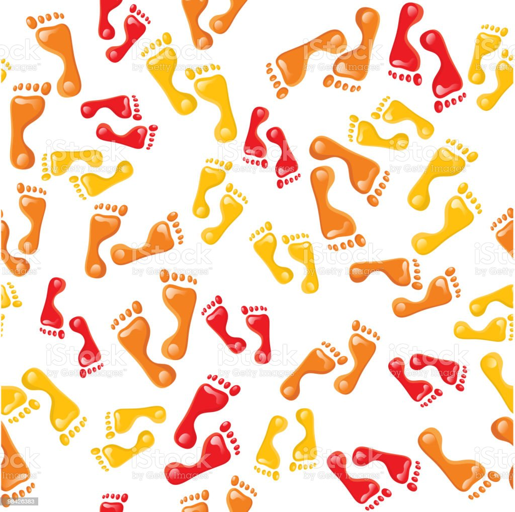 seamless foot prints background royalty-free stock vector art