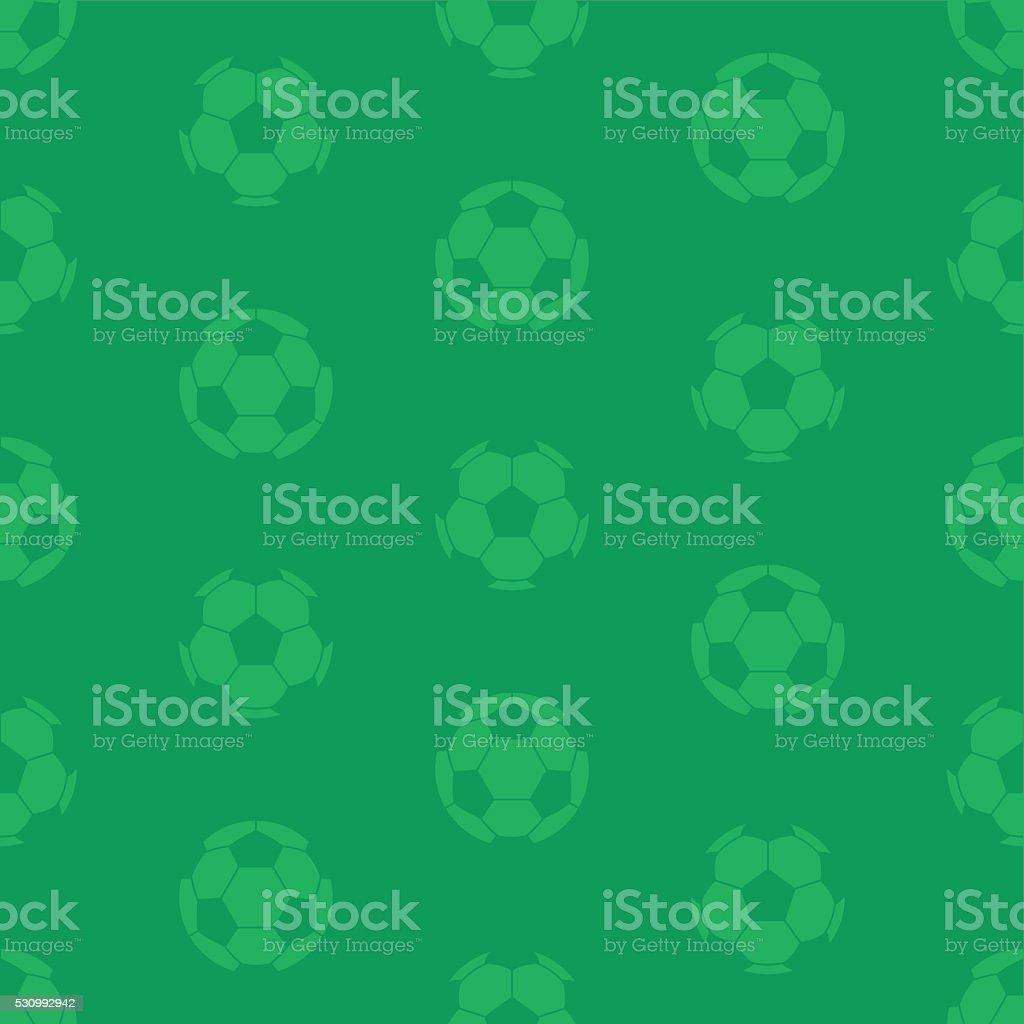 Seamless Football Soccer Ball Pattern vector art illustration