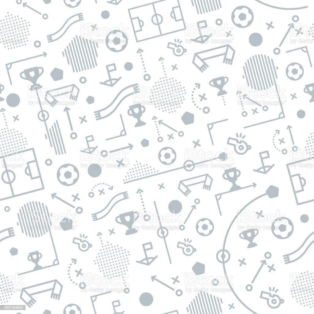 Seamless Football Soccer Pattern Background vector art illustration