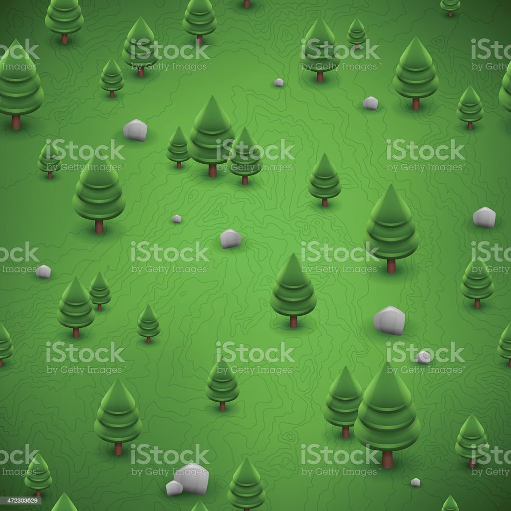 Seamless Forest Background royalty-free stock vector art