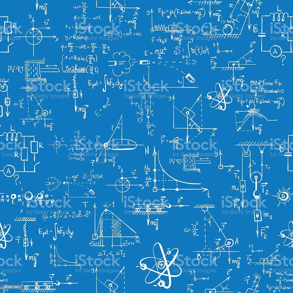 Seamless formula patter vector art illustration