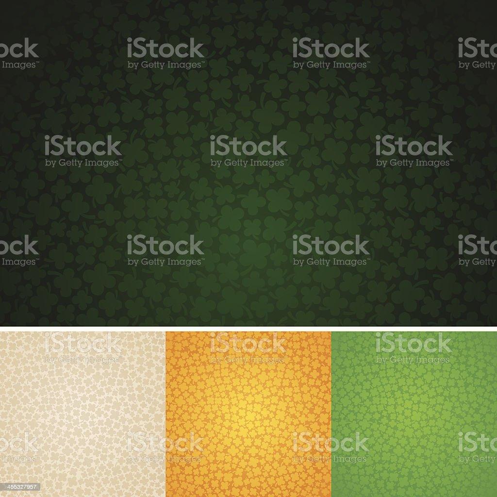 Seamless Four-Leaf Clover Background vector art illustration