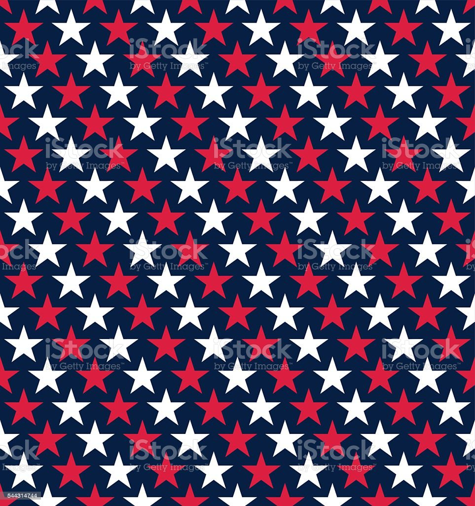 Seamless Fouth of July Star Pattern Background vector art illustration