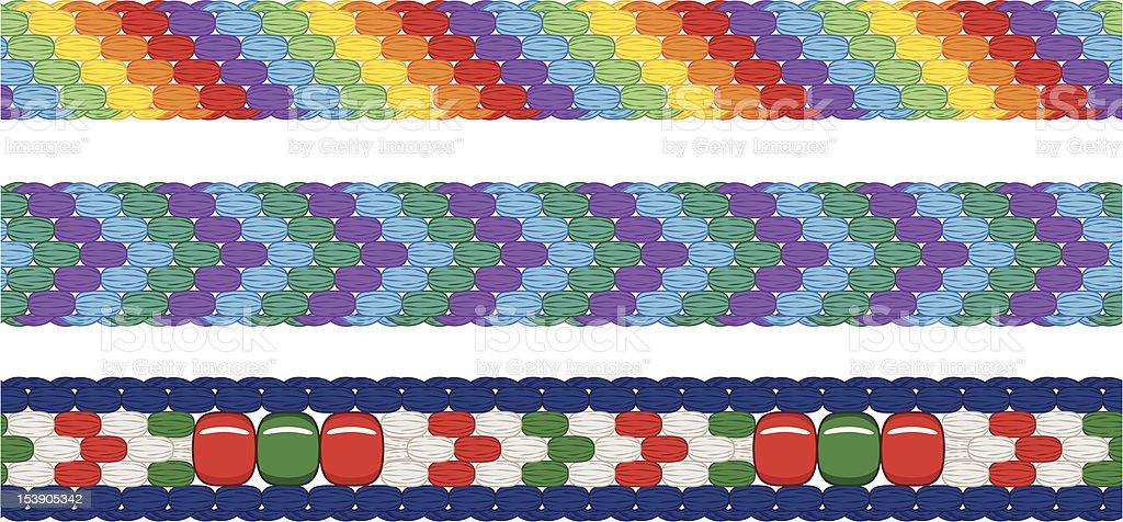 Seamless Friendship Bracelet Border vector art illustration