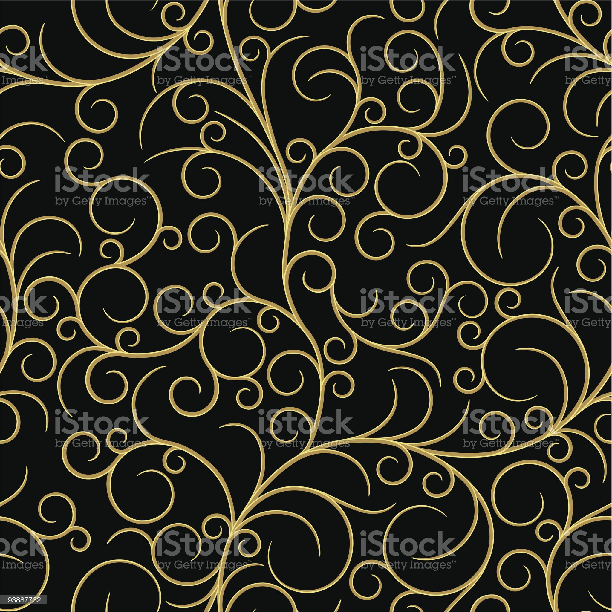 Seamless from swirls royalty-free stock vector art