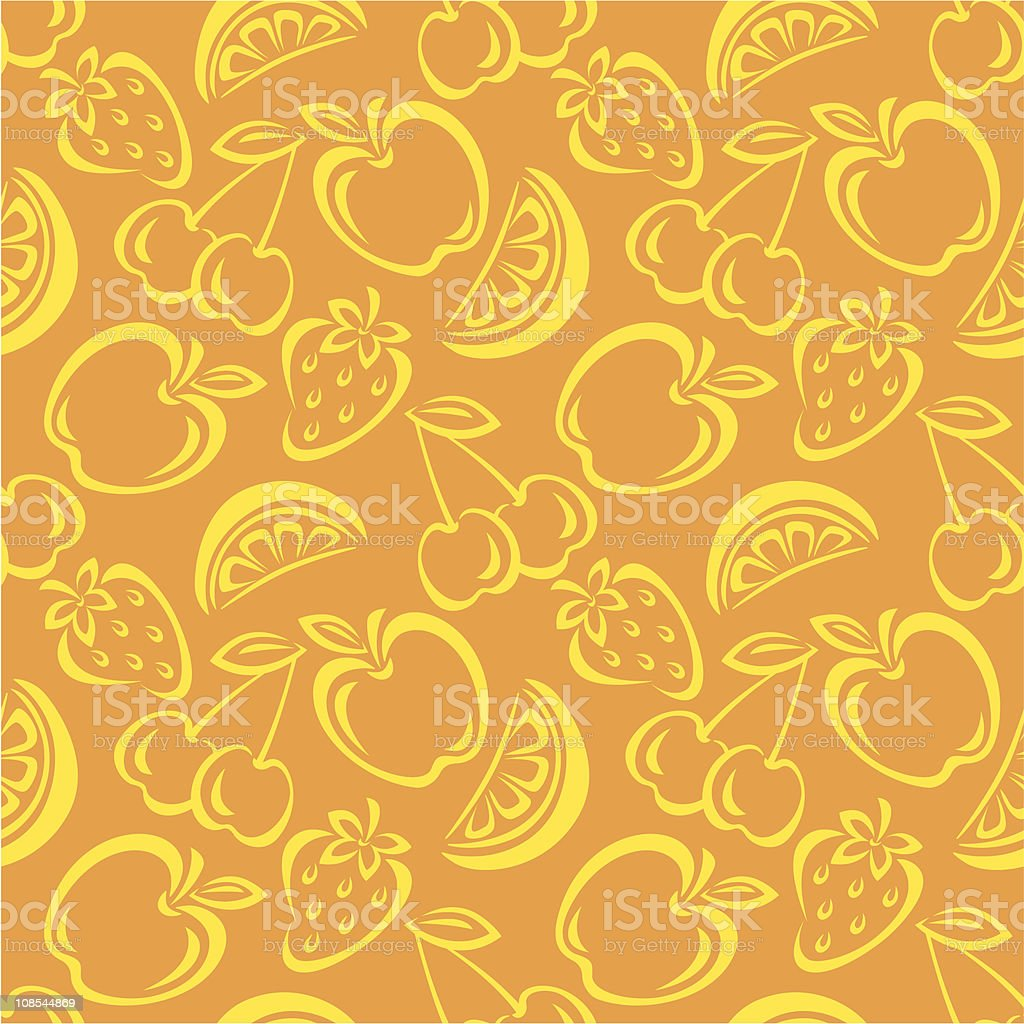 Seamless Fruit Pattern royalty-free stock vector art