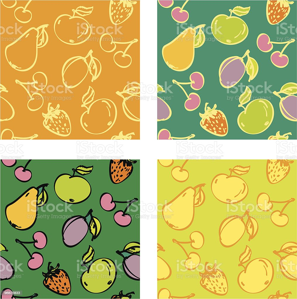 Seamless fruit texture royalty-free stock vector art