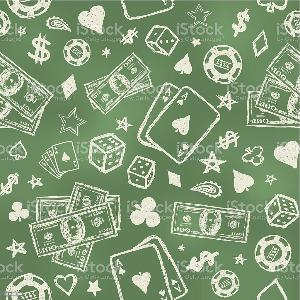 Seamless gambling background royalty-free stock vector art