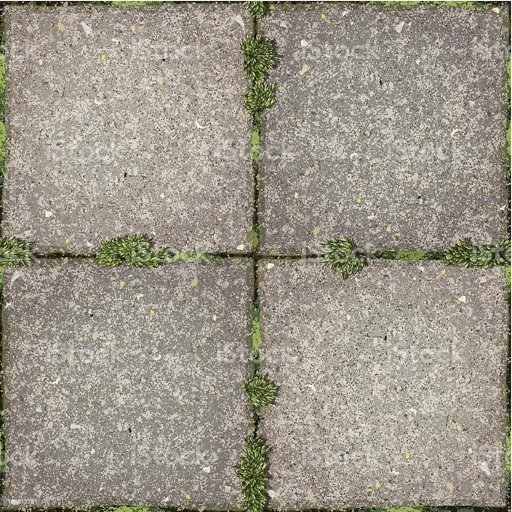 seamless garden tiles  with moss background vector art illustration