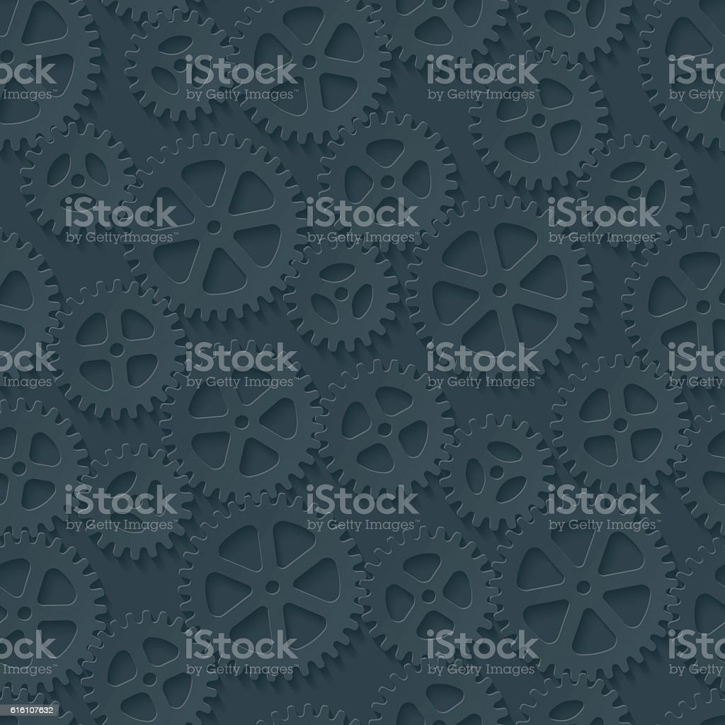 Seamless gears pattern. vector art illustration