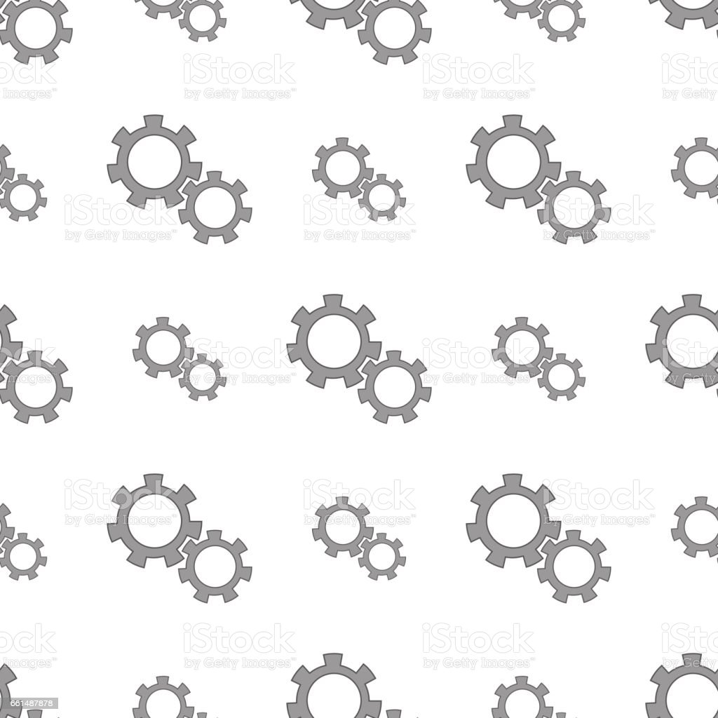 Seamless Gears Pattern vector art illustration