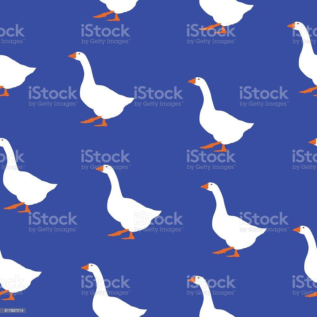 Seamless Geese Pattern vector art illustration