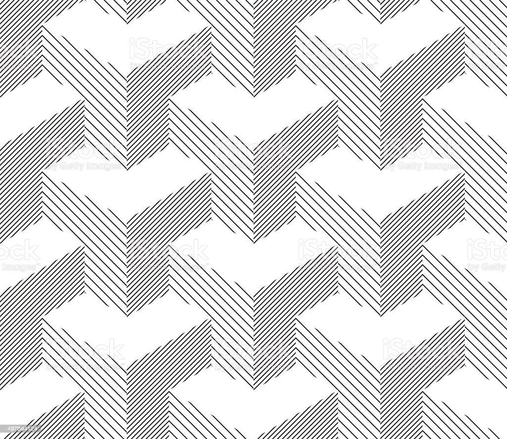 Seamless Geometric Pattern. Halftone Background. Black And White vector art illustration