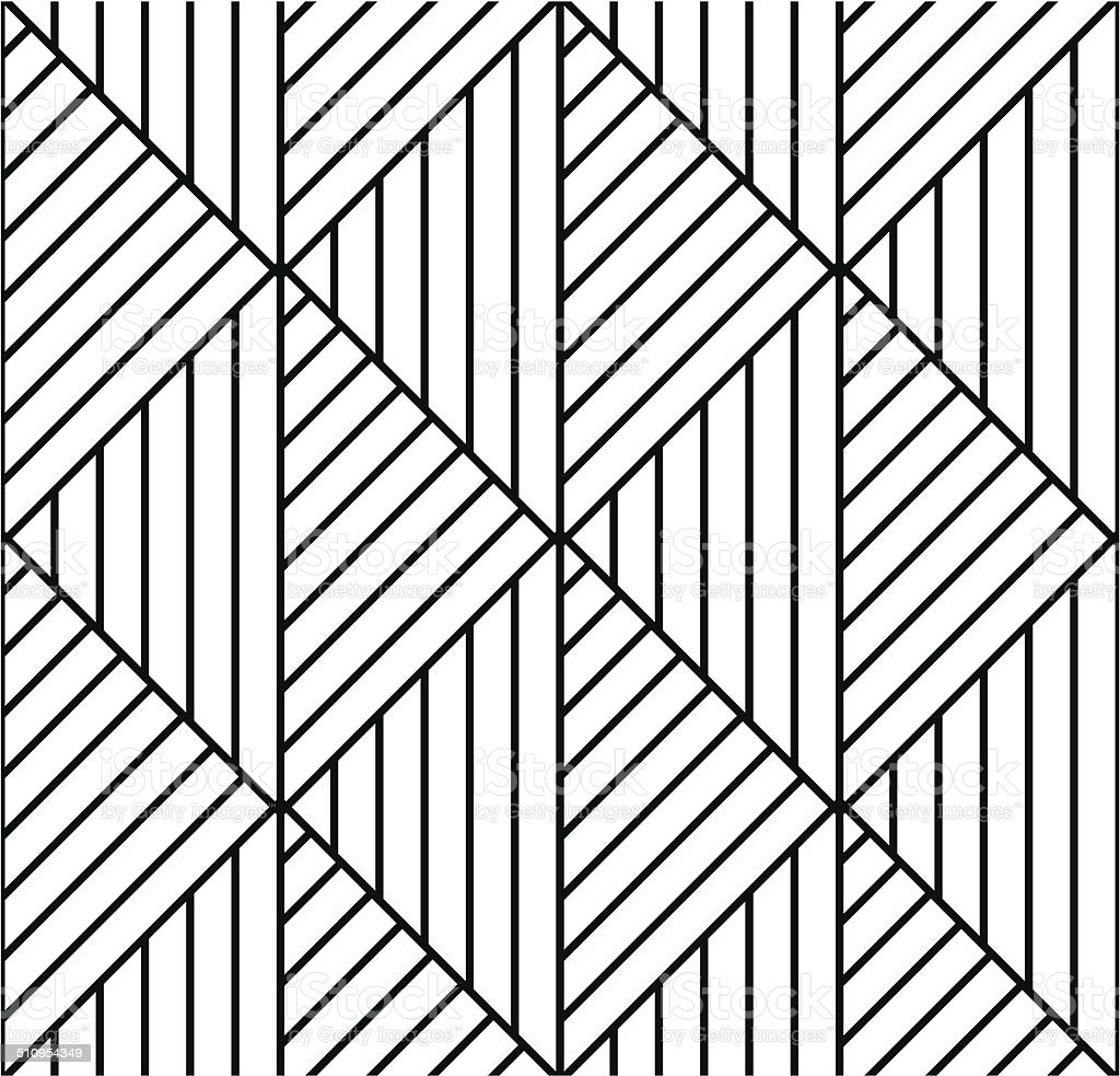 Seamless geometric pattern in op art design. Vector art. vector art illustration