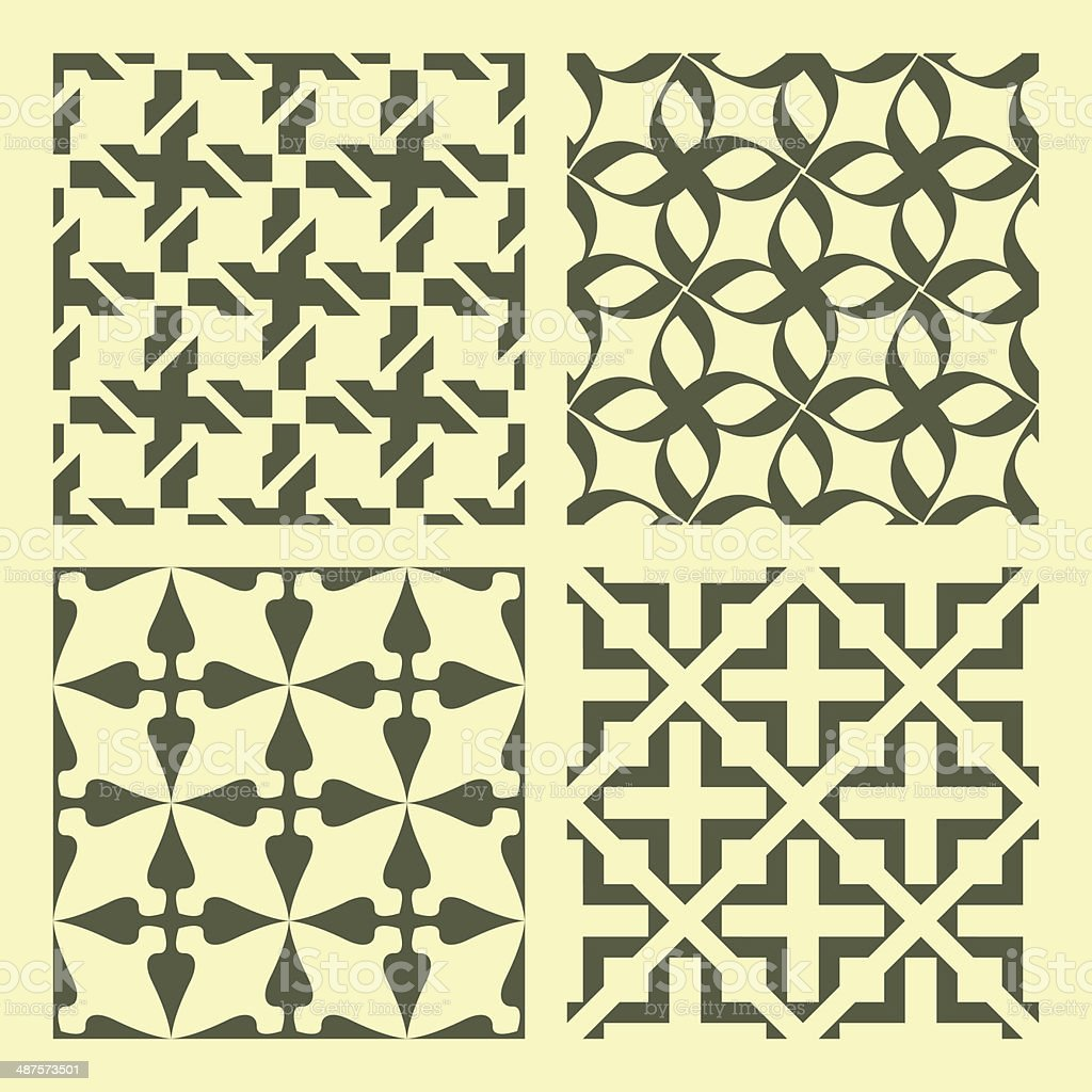 Seamless geometric pattern. vector art illustration