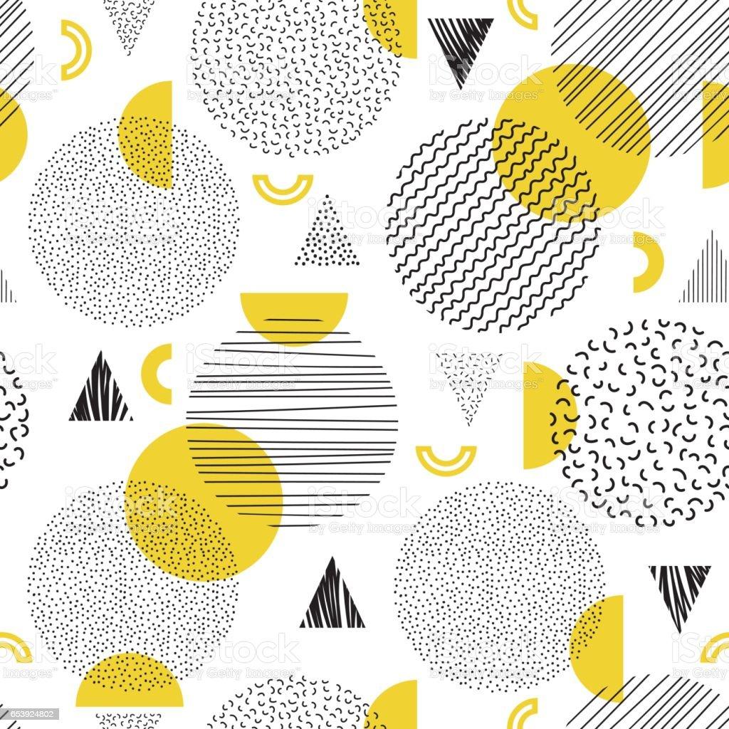 Seamless geometric pattern vector art illustration