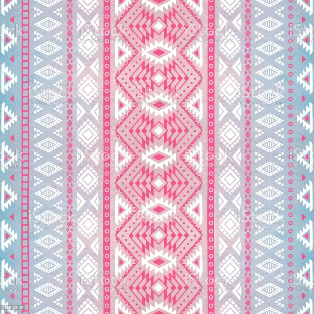 Seamless geometric pattern. Watercolor texture. vector art illustration