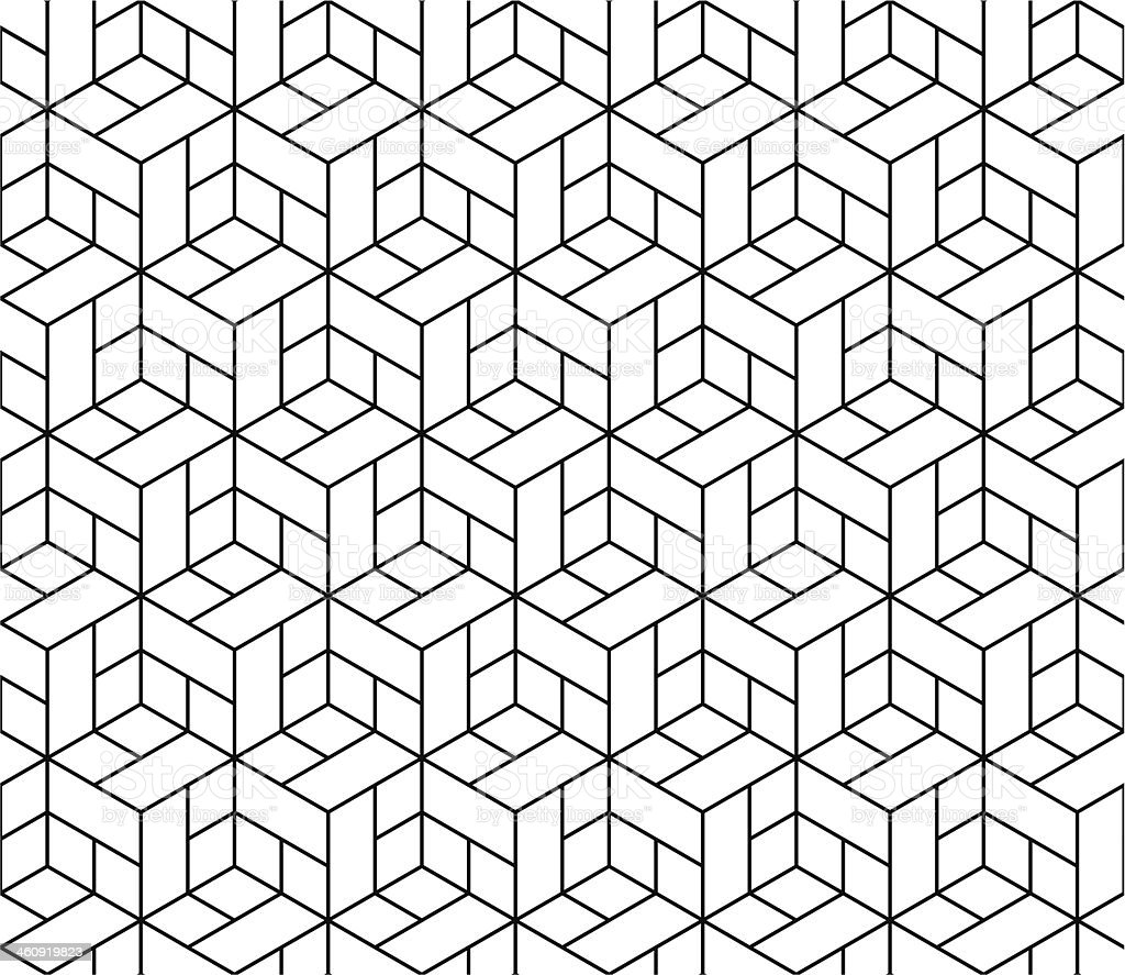 Seamless geometric pattern with cubes. vector art illustration