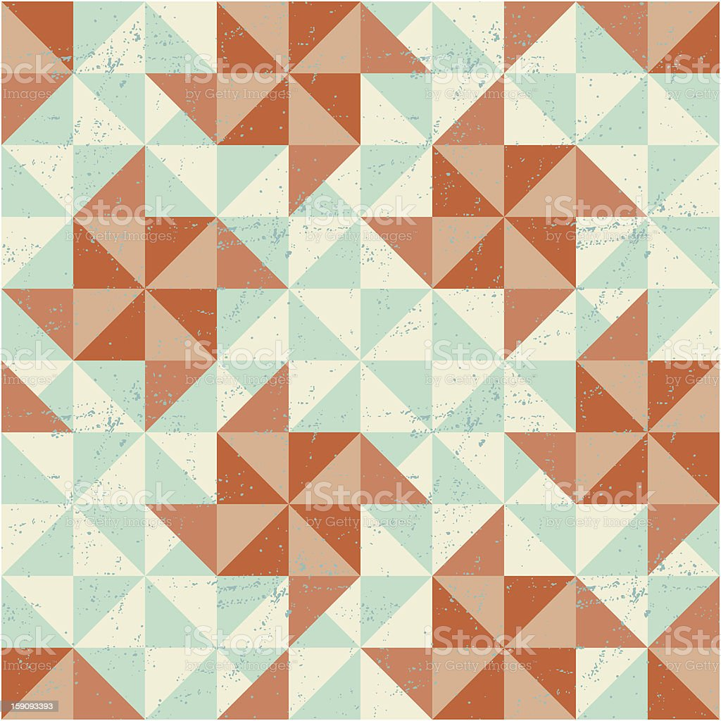 Seamless geometric pattern with origami elements. royalty-free stock vector art