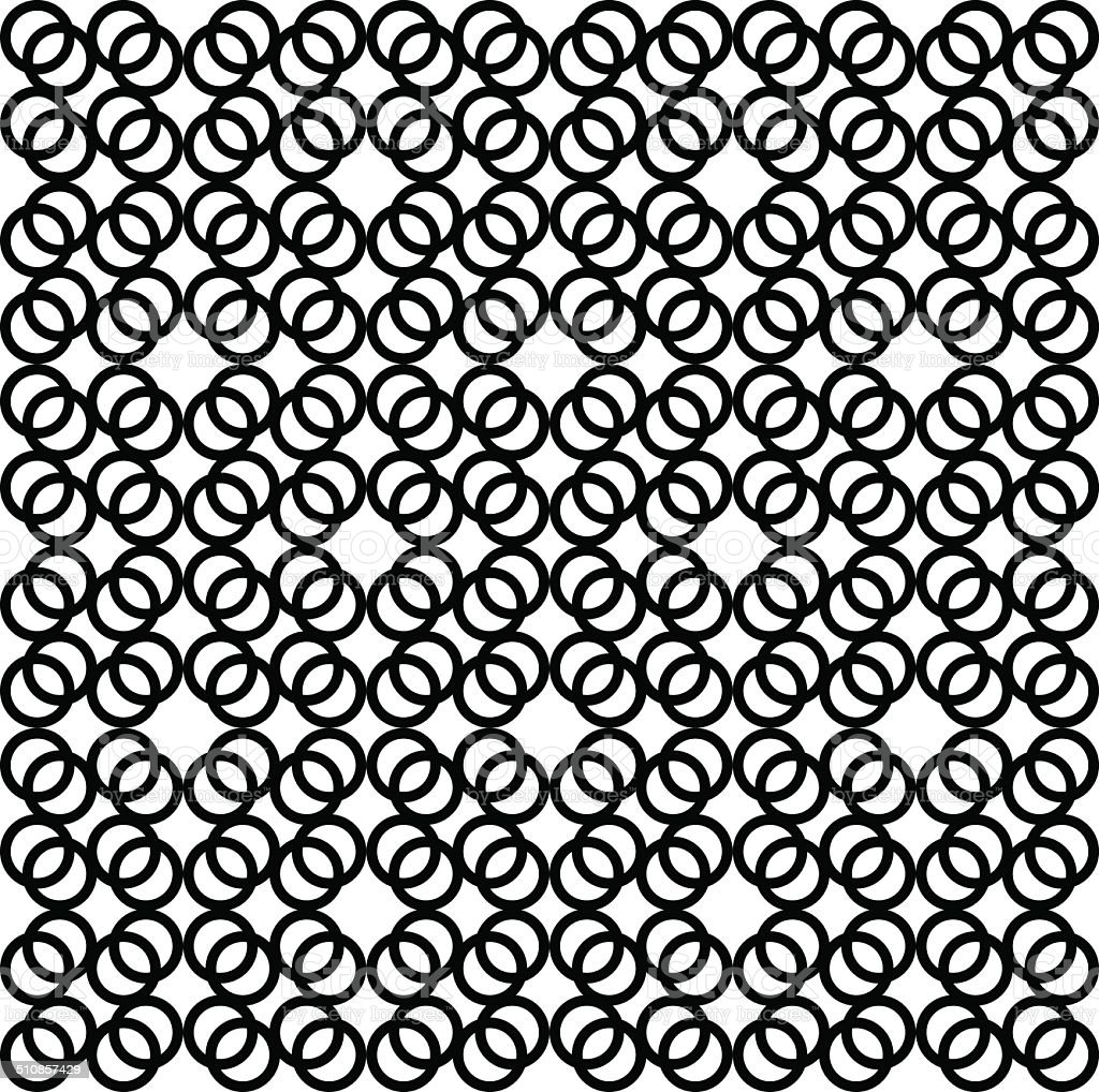Seamless geometric pattern with rings Vector illustration vector art illustration