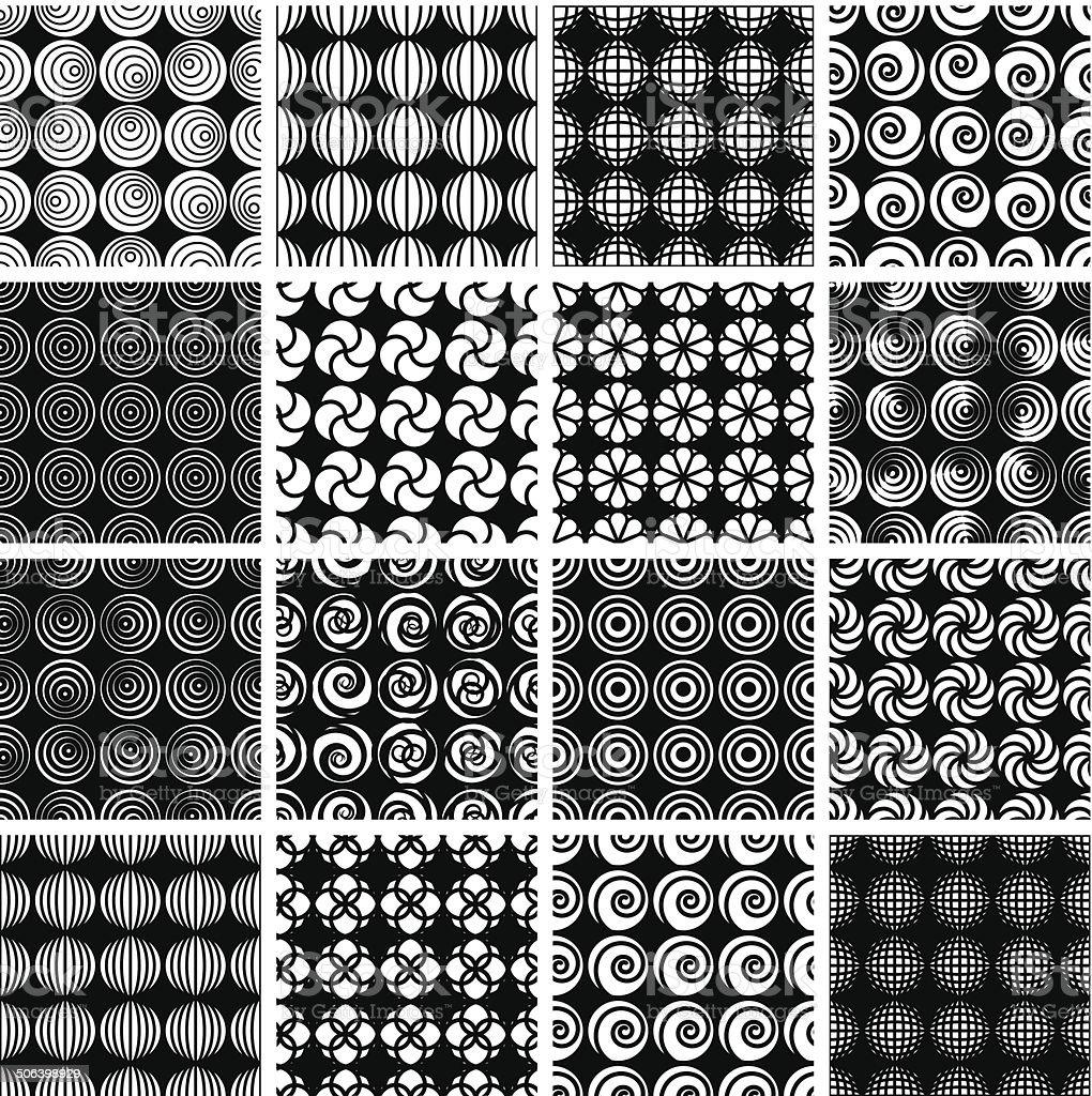Seamless geometric patterns 6. royalty-free stock vector art