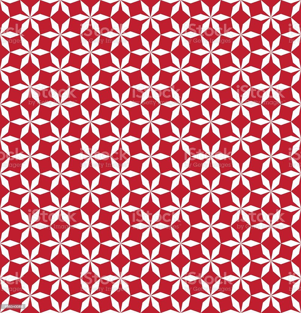 Seamless geometric star pattern background wallpaper vector art illustration