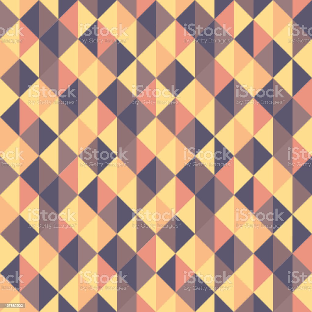 Seamless geometric triangles background. Mosaic. vector art illustration