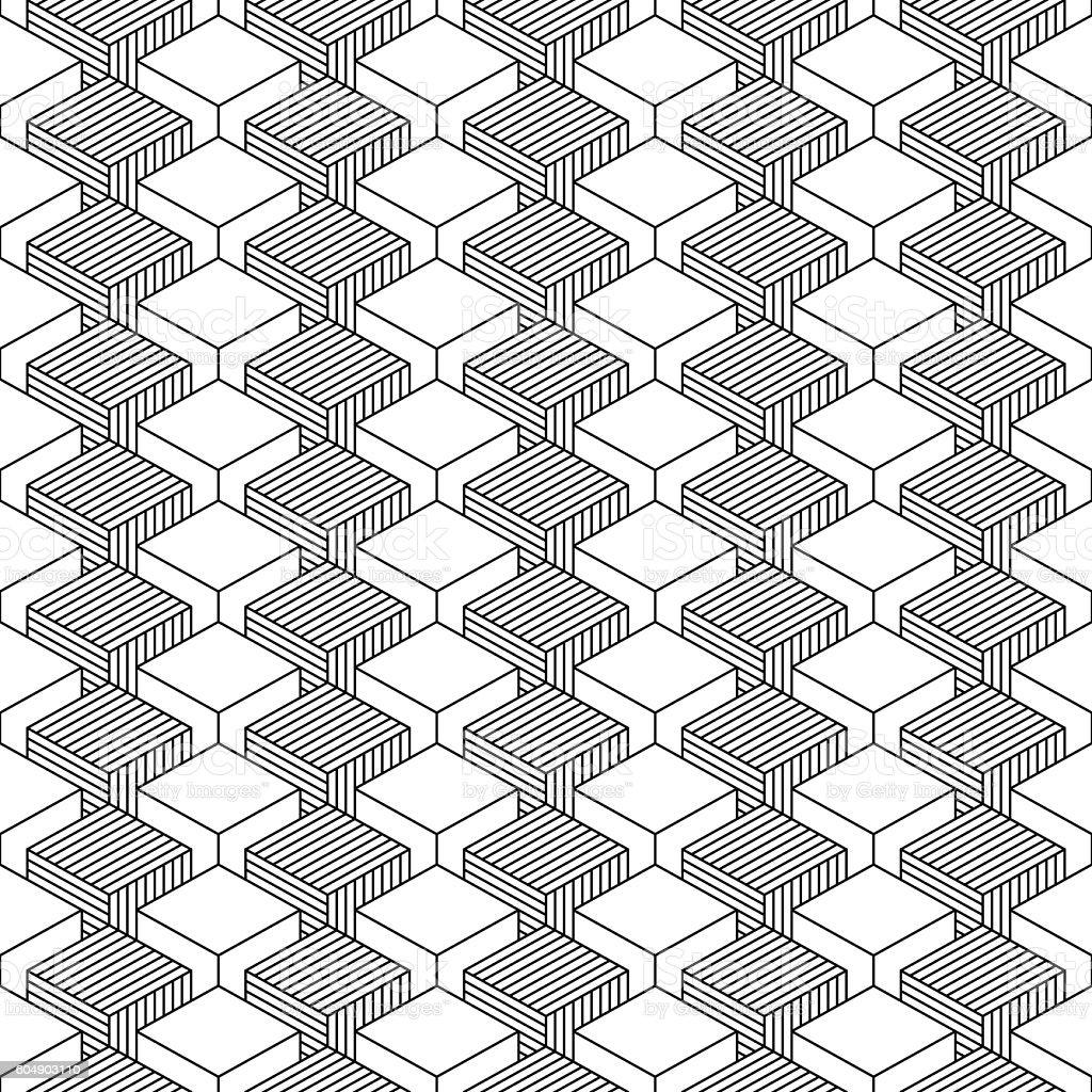 Seamless geometrical pattern vintage background vector art illustration