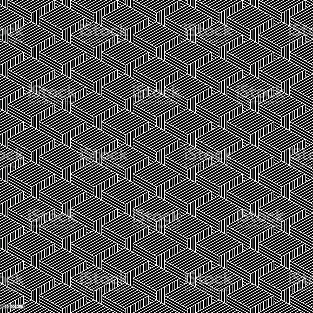 Seamless geometrical pattern vintage background vector art illustration