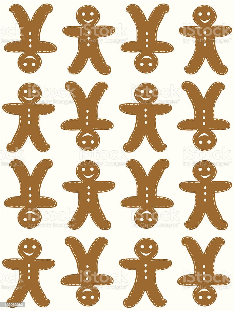 Seamless Gingerbread Cookie Tile  ( Vector ) royalty-free stock vector art