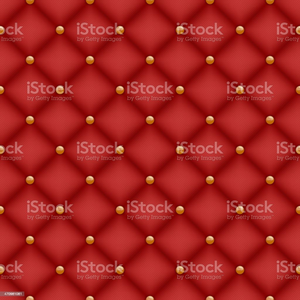 crushed red velvet texture. Dark Red Velvet Texture. Texture Seamless Quilted Background With Golden Pins Crushed