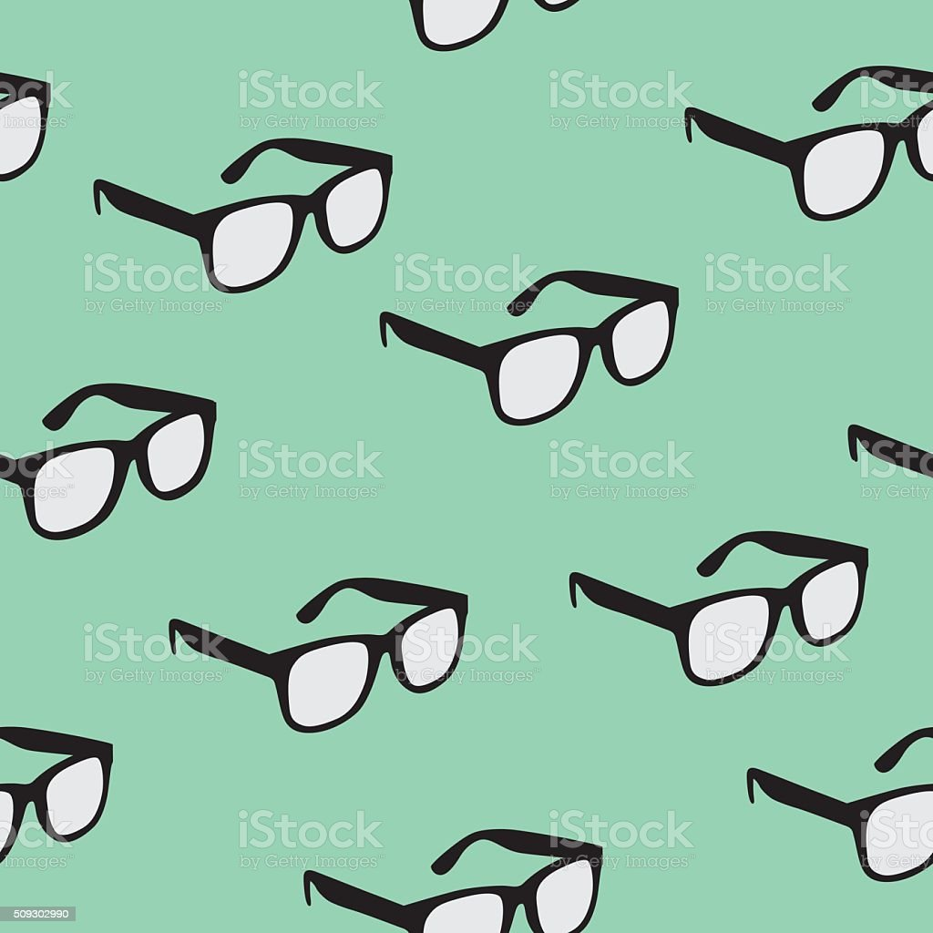 Seamless Glasses Pattern vector art illustration