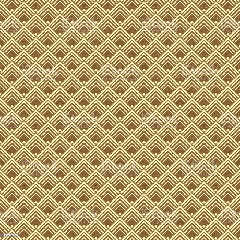 Seamless Gold Art Deco Vector Pattern vector art illustration