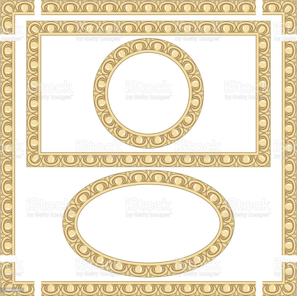 Seamless Golden Frames royalty-free stock vector art