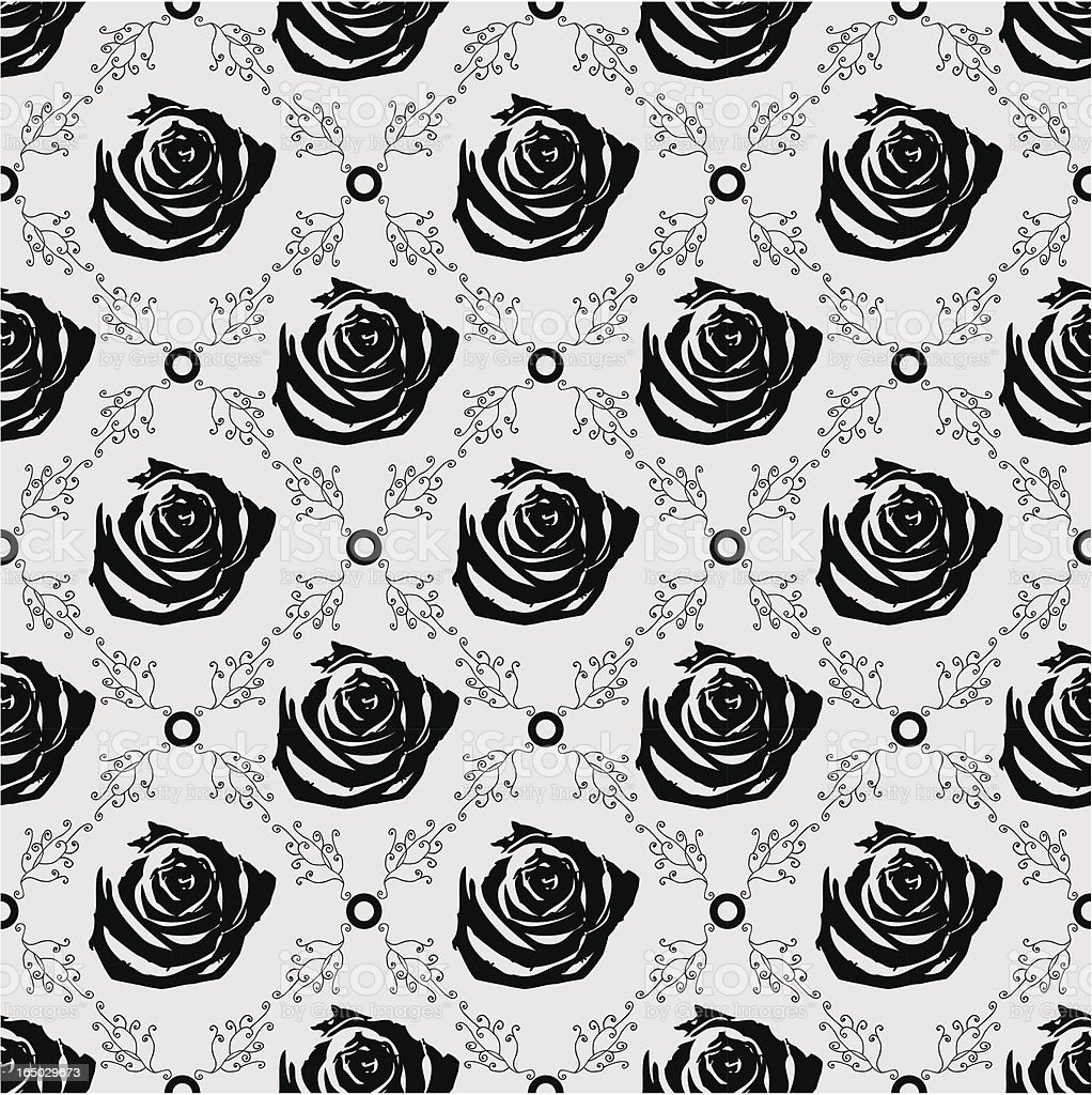 Seamless Gothic Rose Background ( Vector ) royalty-free stock vector art