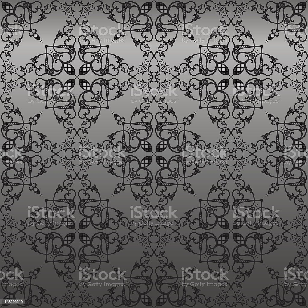 Seamless Gothic  Wallpaper royalty-free stock vector art
