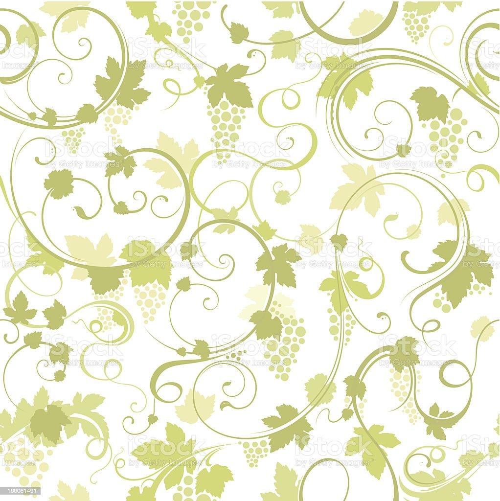 Seamless grapevine background vector art illustration