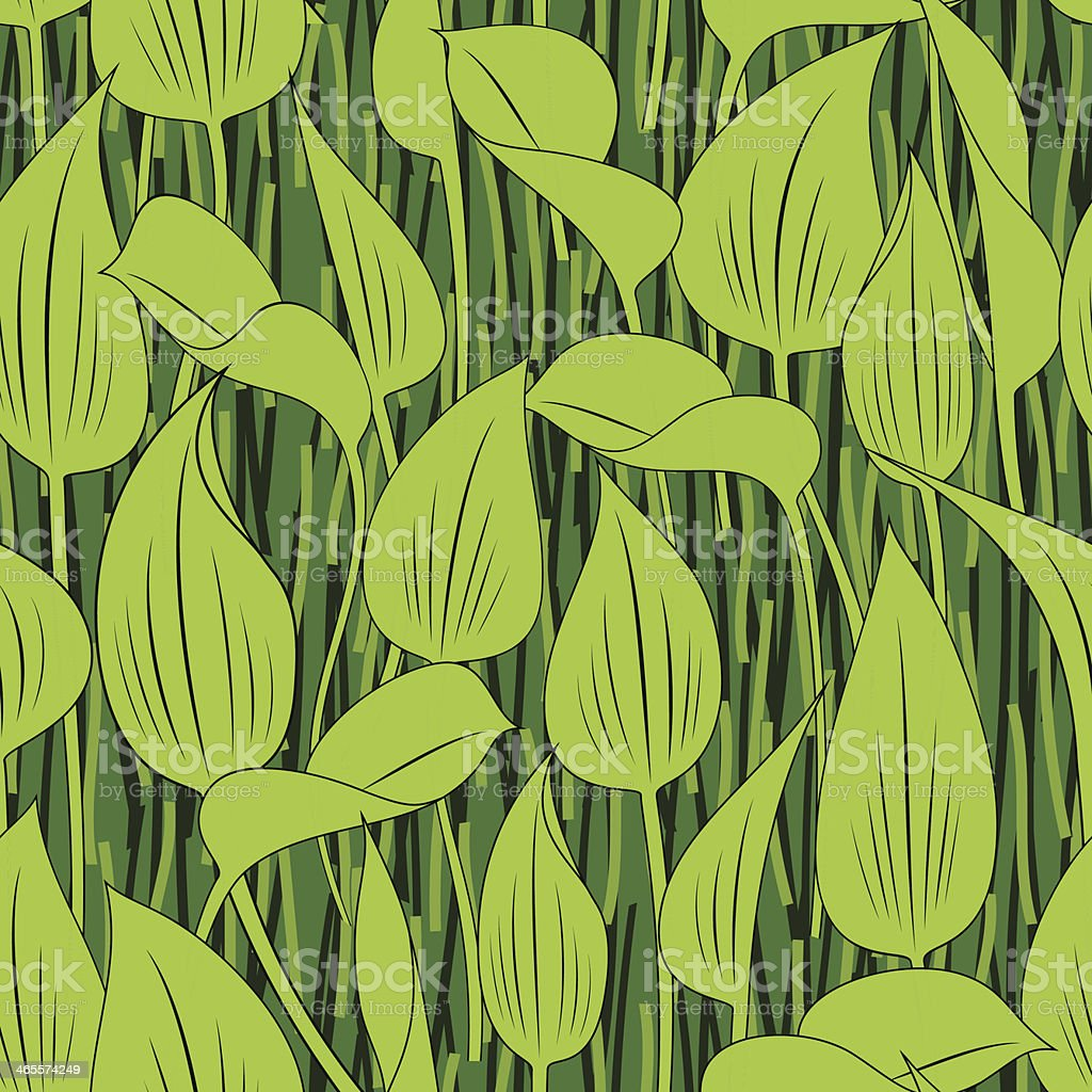 seamless grass bog leaf background royalty-free stock vector art